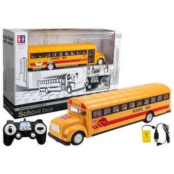 Żółty Autobus Szkolny Zdalnie Sterowany RC