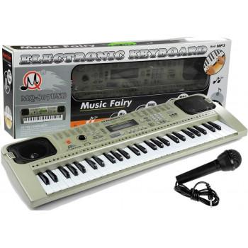 Keyboard MQ807 Organy Pianinko + Mikrofon USB
