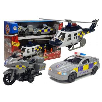 Zestaw Pojazdów Policja Światła Dźwięki