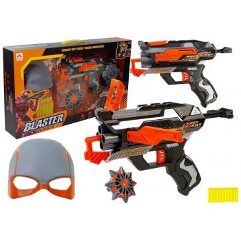 Rozkładany Pistolet na piankowe Strzałki Maska