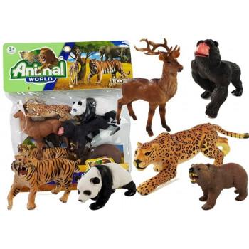 Zwierzęta Gumowe w Worku Tygrys Puma Goryl