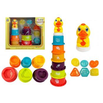 Piramidka Edukacyjna Dla Dziecka Zbuduj Wieżę, Sorter, Zabawa w wodzie