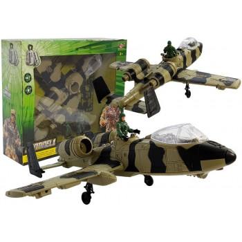 Samolot Wojskowy na Baterie Światła i Dźwięk 49 cm