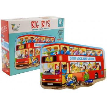 Zestaw Puzzle 15 elementów Autobus