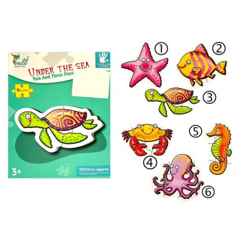 Puzzle Zwierzątka Morskie Układanka 6szt