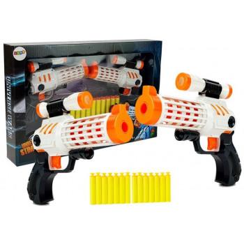 Zestaw Pistolety + Piankowe Naboje Przyssawki