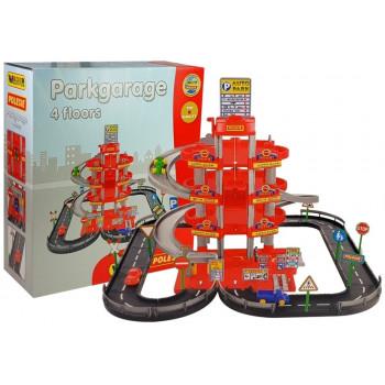 Parking 4-poziomowy z drogą i samochodami 44723