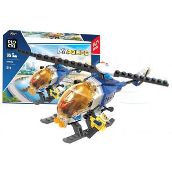 Klocki Blocki MyPolice Helikopter Policyjny 95el KB0655