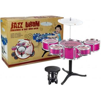 Zestaw Bębnów Jazzowych Perkusja Różowa