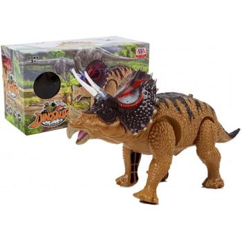 Dinozaur Triceratops Żółty Na Baterie