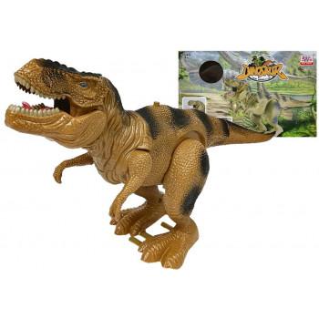 Dinozaur Tyranozaur Rex Na Baterie Brązowy