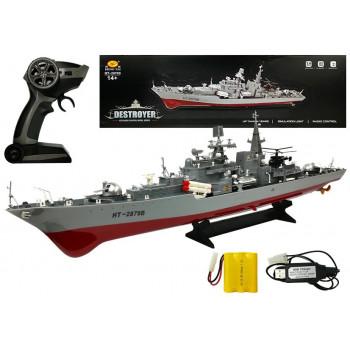 Statek Niszczyciel Zdalnie Sterowany R/C 1:275