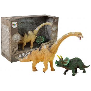 Zestaw Figurek Dinozaur Brachiosaurus, Triceratops