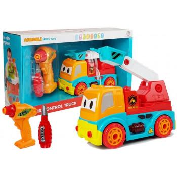 Wóz strażacki do rozkręcania Zdalnie Sterowany R/C