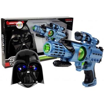 Pistolet Laserowy Maska Wojownika Kosmosu Zestaw