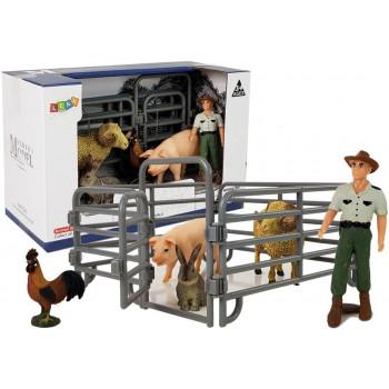 Zestaw Figurek Zwierzęta Domowe Farma Rolnik Owca Baran