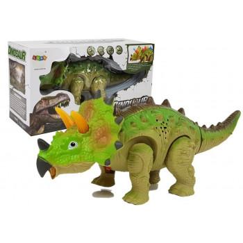 Dinozaur na Baterie Triceratops Zielony