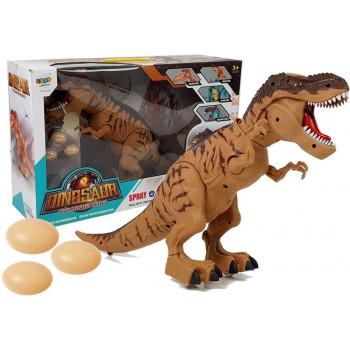 Dinozaur na Baterie Tyranozaur Znosi Jaja Brązowy z Parą