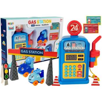 Stacja Benzynowa z Autkami, Światłami, Dźwiękiem