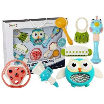 Zestaw Zabawek Edukacyjnych dla Niemowląt Instrumenty Gryzak Grzechotka