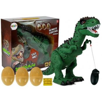 Dinozaur Zdalnie Sterowany R/C Zielony z Dźwiękiem Znosi Jaja Projektor