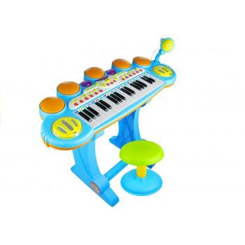 Organy Pianinko Keyboard Perkusja Stołek