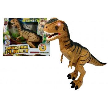 Dinozaur Tyranozaur Porusza się Ryczy Świeci