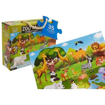Zestaw Puzzle Zwierzęta w Zoo 35el