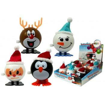 Zabawka Świąteczna Pingwin Renifer Bałwan Mikołaj Nakręcana