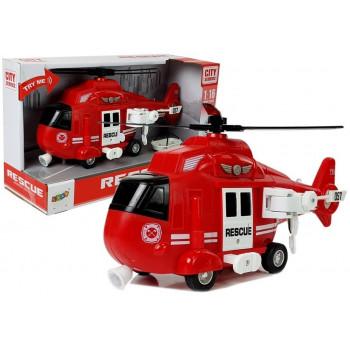 Helikopter Ratunkowy Straż Pożarna 1:16 Hak Dźwięk Światła