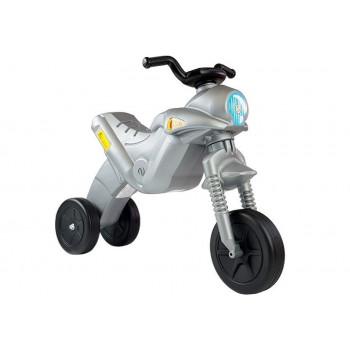 Motorek Biegowy Trójkołowy Enduro Jeździk Srebrny 5045 42 cm Wysokości