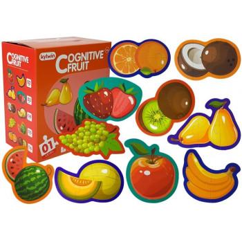 Puzzle Edukacyjne Dla Niemowląt Owoce 5 Części 40 Elementów