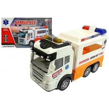 Ambulans Autko na Baterie Światło Dźwięki