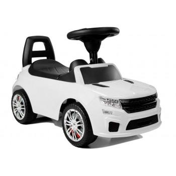 """Samochód Jeździk """"SuperCar"""" Nr6 z Dźwiękiem 84606 Biały"""