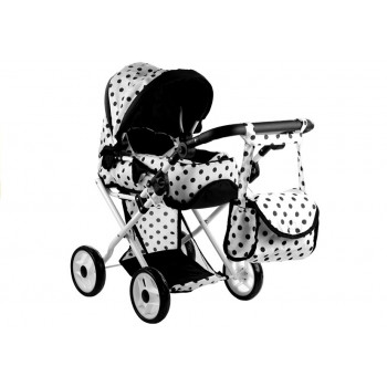 Wózek dla lalek Alice Głęboki, Nosidło, Torba, Pościel