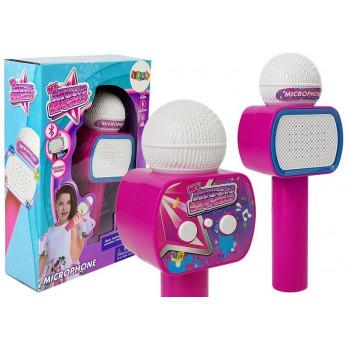 Mikrofon Dziecięcy Bezprzewodowy Karaoke Głośnik Bluetooth Różowy
