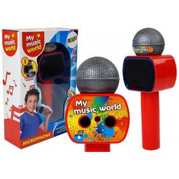 Mikrofon Dziecięcy Bezprzewodowy Karaoke Głośnik Bluetooth Czerwony