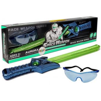 Zabawki Kosmiczne Miecz Świetlny Zielony Okulary