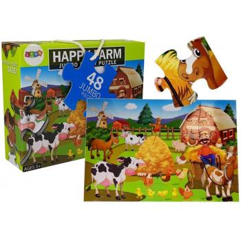 Puzzle Układanka Farma Zwierzęta 48 elem