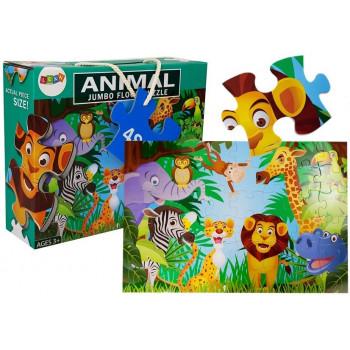 Puzzle Dżungla Dzikie Zwierzęta 48 elem