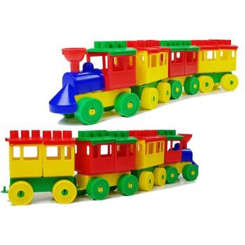 Pociąg Lokomotywa z Klocków 3 Odpinane Wagony 36711