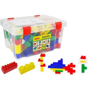 Klocki Budowniczy 168 Elementów Skrzynia Pudełko 50601