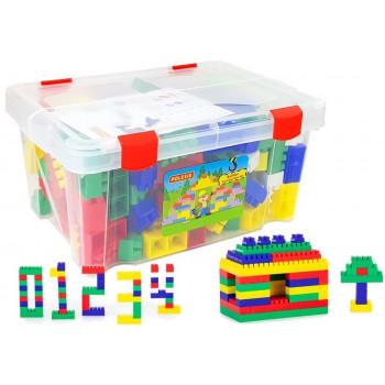 Klocki Budowniczy 174 Elementów Skrzynia Pudełko 50557