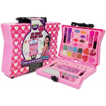 Walizka Z Kosmetykami Dla Dziewczynek Cienie Do Powiek Lakiery Do Paznokci