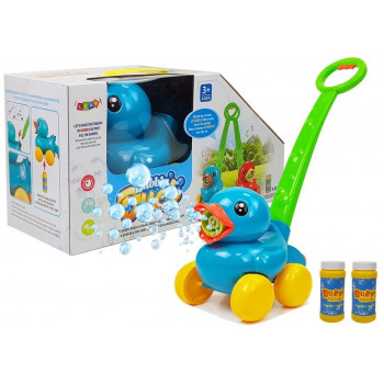 Maszynka Do Baniek Mydlanych Niebieska Kaczka z Rączka  Muzyczka Światła