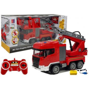 Straż Pożarna Zdalnie Sterowana 2.4G 1:20 Z Wodą
