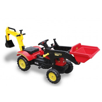 Traktor Branson czerwony na Pedały