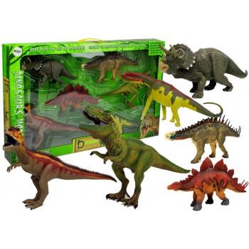 Zestaw Dinozaurów Duże Figurki Modele 6 sztuk Stegozaur