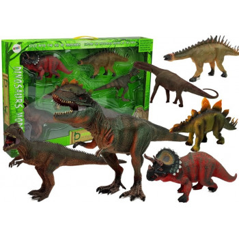 Zestaw Dinozaurów Duże Figurki Modele 6 sztuk Tyranozaur
