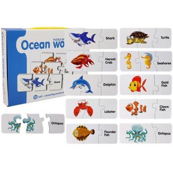 Puzzle Edukacyjne Układanka Świat Oceanów 10 Połączeń